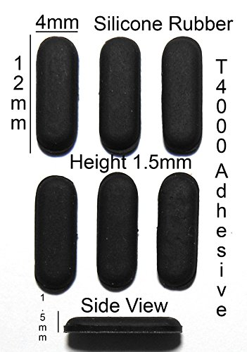 Silicone Rubber Feet 12mm(L)x 4mm(W)x 1.5mm(H) Self Adhesive 6pcs [RB1]