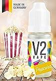 V2 Vape E-Liquid Popcorn - Luxury Liquid für E-Zigarette und E-Shisha Made in Germany aus natürlichen Zutaten 10ml 0mg nikotinfrei