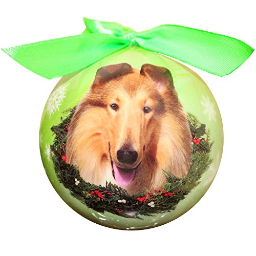 Collie Christmas Ornament Shatter Proof Ball Easy To Personalize A Perfect Gift For Collie (Christmas Costumes For Horses Ideas)