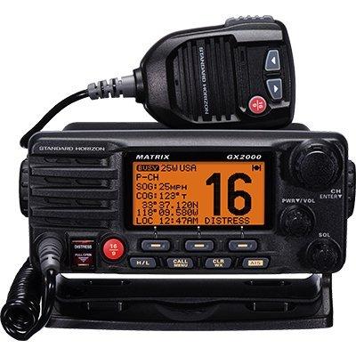Standard Horizon GX2000B VHF, Matrix, with Hailer, Opt Remote, Black