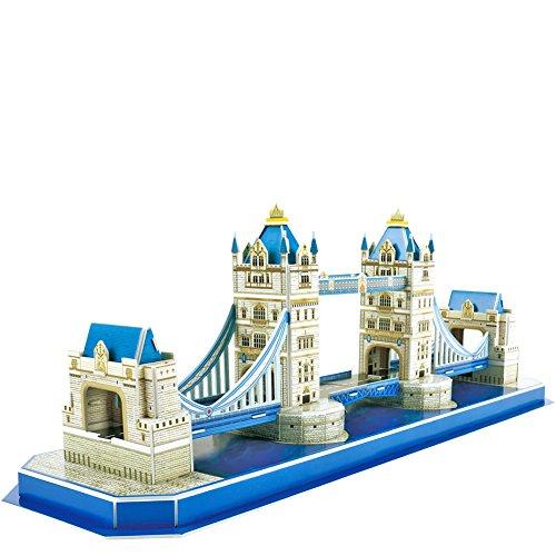 CubicFun Mini Architectural London Model Craft Kits&3D Puzzle Toy,UK Tower Bridge 52 Pieces C238h ()
