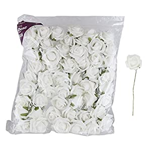 "Mega Crafts 3"" Soft Touch Artificial Foam Flowers, Set of 48 
