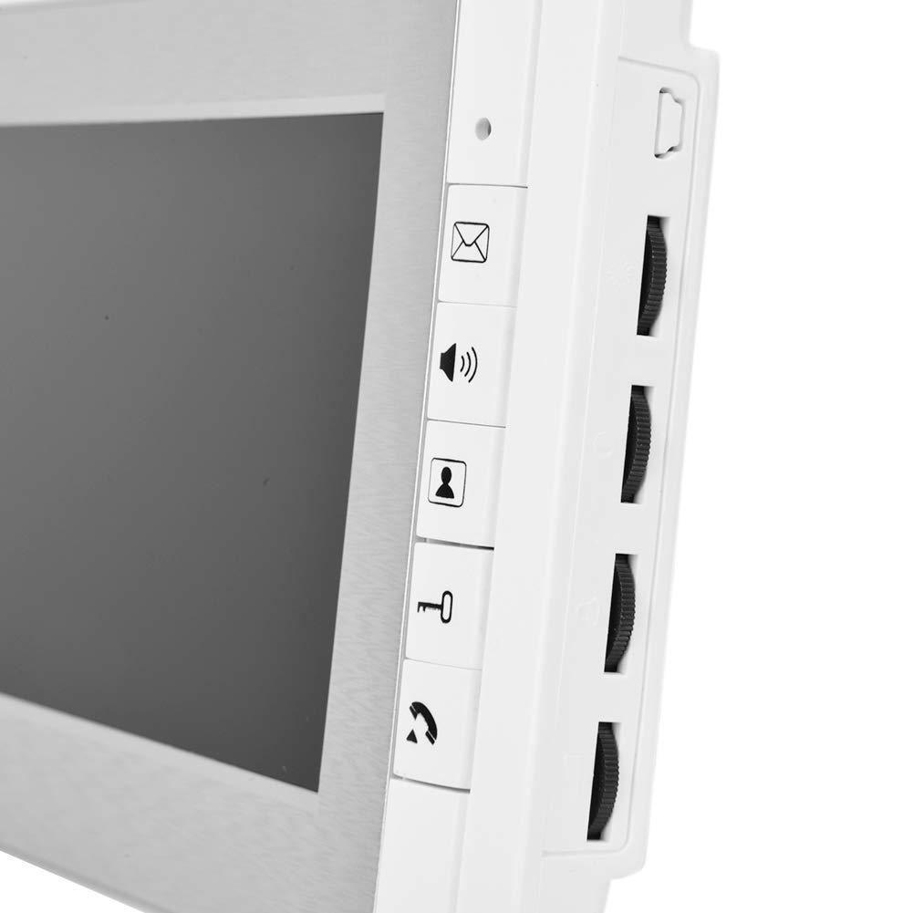 Timbre de Video 7 en Color HD TFT-LCD Timbre Inteligente Sistema de Entrada de Video Portero autom/ático Timbre Inteligente Enchufe del Reino Unido