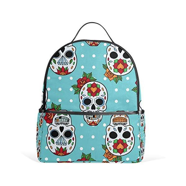Blue Skull Pois Zaino per Donne Ragazze Ragazze Borsa Moda Bookbag Bambini Viaggio College Casual Daypack Ragazzo… 1 spesavip