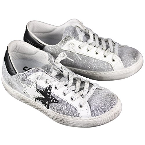 2 Star Damen Sneaker Weiß Bianco