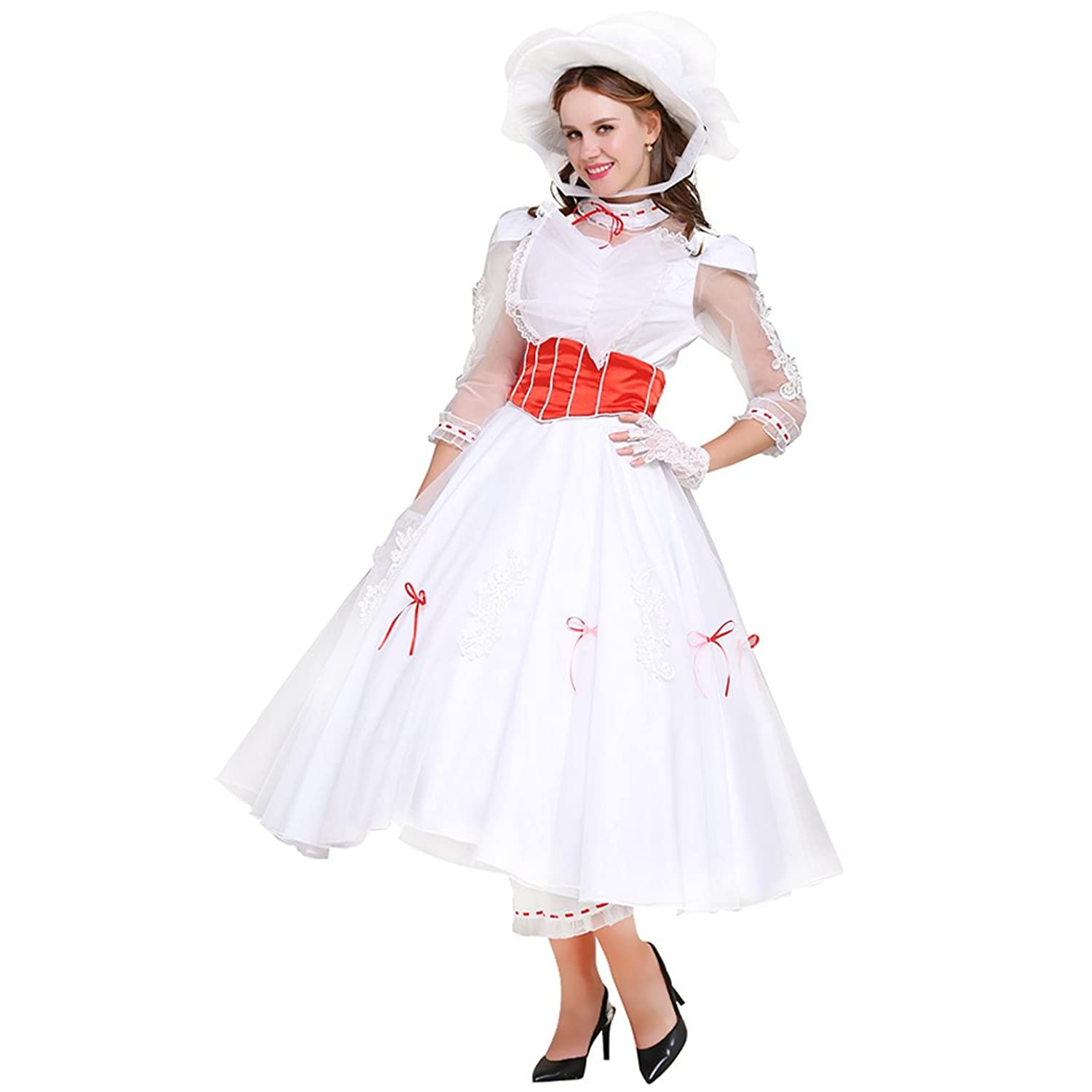 Edwardian Costumes – Cheap Halloween Costumes Dress for Mary Poppins Princess Cosplay $133.00 AT vintagedancer.com