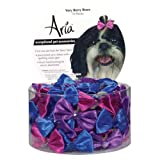 Aria Satin Very Berry Dog Bows Canisters, 1-1/2-Inch, 72-Pack, Colors Vary