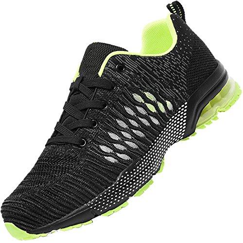 Voyager Chaussures Pour Hommes Chaussures De Sport Chaussures De Course En Mesh Respirant Été Amortissant Vert Coussin Dair