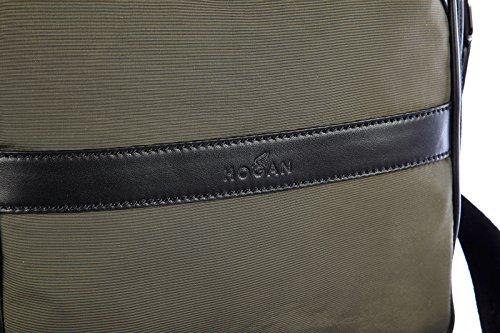 Hogan Umhängetasche Herren Tasche Schultertasche Messenger Nylon Grün