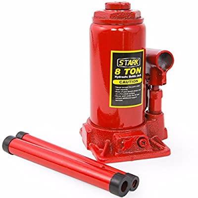 8 Ton Hydraulic Bottle Jack, Heavy Duty 16000lb Automotive Car Lift Compact New