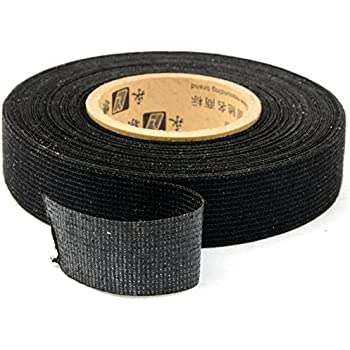 510KTdlSRvL._SL500_AC_SS350_ amazon com 2pcs wiring loom harness adhesive cloth fabric tape black non-adhesive vinyl wiring harness tape at bayanpartner.co