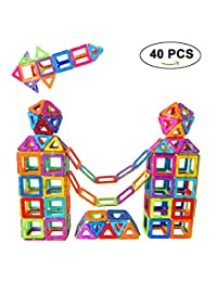 Magnetic Building Blocks Set, SUPRBIRD 40 PCS Magnetic Tiles Building Stack Educational Toys Kids Magnet Construction Toys for Girls Boys Toddler BOBEBE Online Baby Store From New York to Miami and Los Angeles