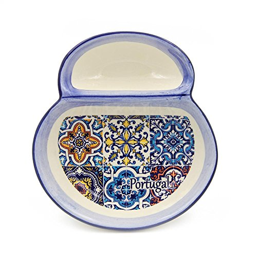 Hand-painted Portuguese Ceramic Olive Dish by Alcoa Arte