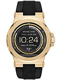 Access, Men's Smartwatch, Dylan Gold-Tone Stainless Steel with Black Silicone, MKT5009