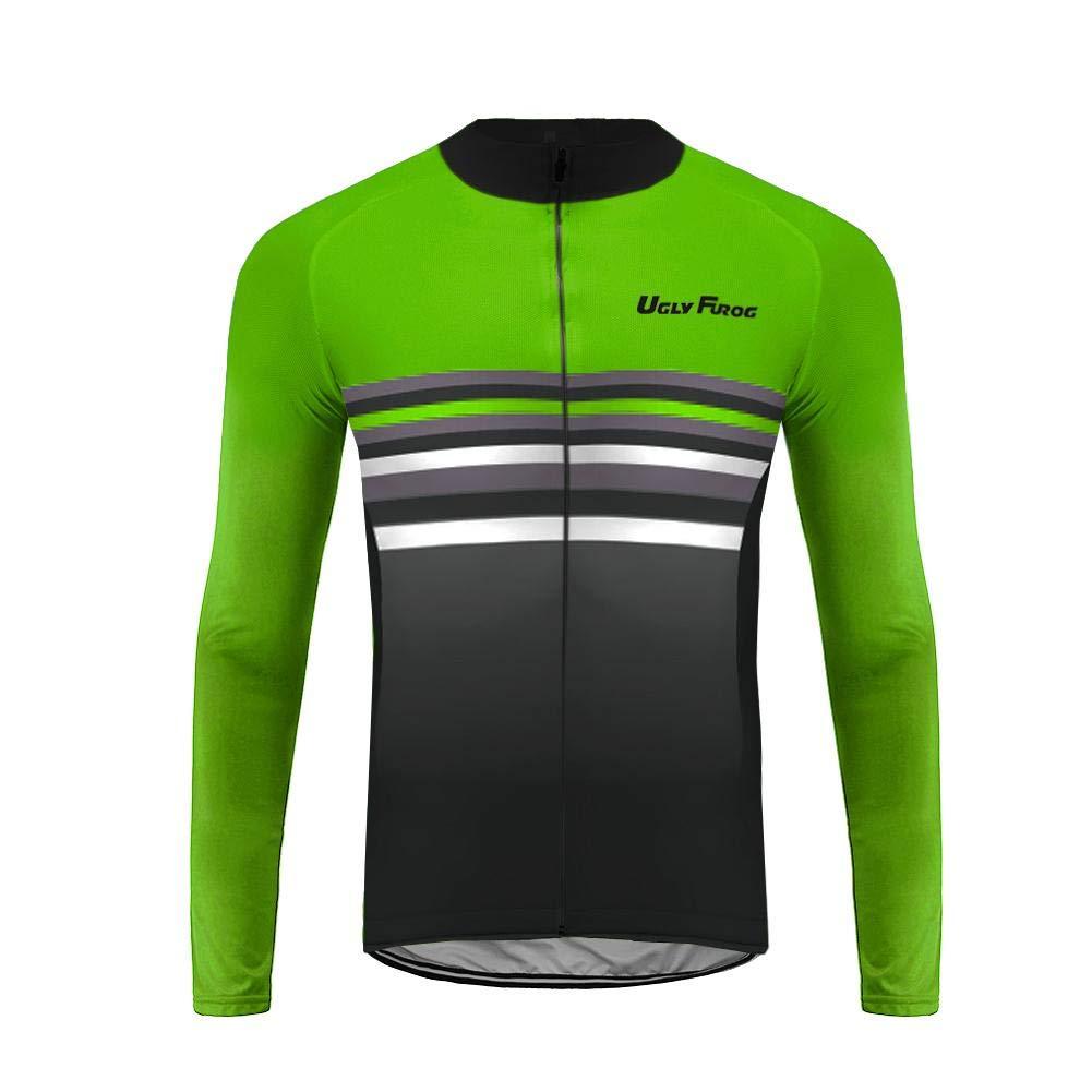 Uglyfrog 2018 Winter Jersey Thermisches Herren Fahrradbekleidung Thermo Trikot Langarm Radfahren Jersey Lange H/ülsen Fahrradtrikot MENZRW04