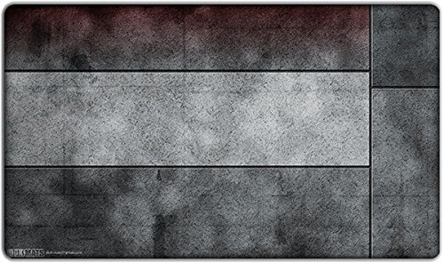 Playmat Red Zone with Right Side Bar by Inked Gaming / Perfect for MtG, Pokemon, and YuGiOh card gaming! Your Game. Your Style. Playmat