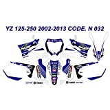 N 032 YAMAHA YZ125 YZ250 2002-2013 02-13 DECALS STICKERS GRAPHICS KIT