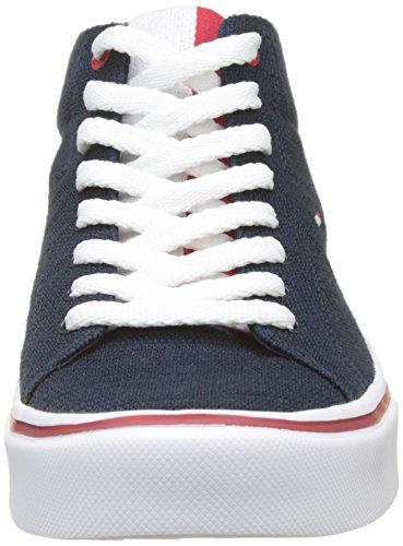 Hilfiger Lightweight Cut Mid da Sneaker 403 Knit Tommy Midnight Blu Scarpe Uomo Ginnastica Basse 5Uw4dIqqn