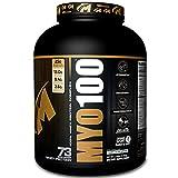 MYO100 A Transparent Blend of Whey Protein Powder, Whey Protein Isolate 50%, Whey Protein Concentrate 40%, Whey Protein Isolate Hydrolysate 10% – 5 Lbs. 73 Servings Delicious Vanilla Ice Cream