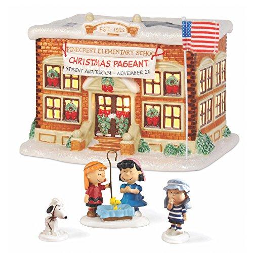 Department 56 Peanuts Village School Pageant Lit House Set by Department 56
