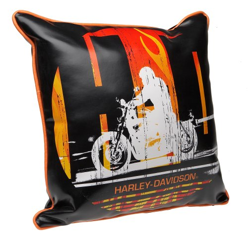 - Harley-Davidson HD Rider 18-by-18-Inch Decorative Pillow