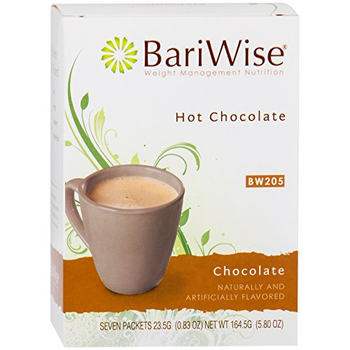 (BariWise High Protein Hot Cocoa - Instant Low-Carb, Low Calorie Hot Chocolate Mix with 15g Protein - Chocolate (7 Count))