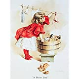 Ivory Soap Girl Washing Laundry Retro Vintage Tin Sign - 13x16