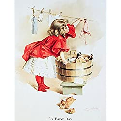 IVORY SOAP GIRL Vintage Metal Sign Laundry Art Tin Dolls , 13x16