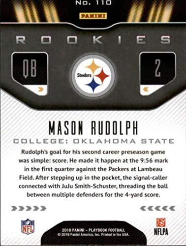 f31e802e9 Amazon.com  2018 Panini Playbook Orange  110 Mason Rudolph Rookie  Pittsburgh Steelers RC NFL Football Trading Card  Collectibles   Fine Art