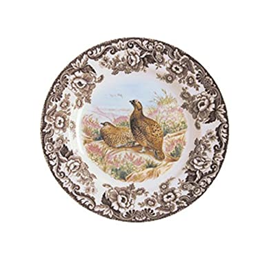 Spode Woodland Red Grouse Dinner Plate