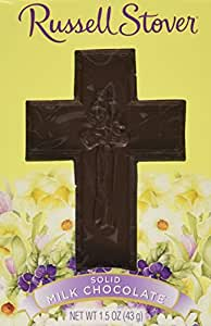 Russell Stover Solid Milk Chocolate Cross Candy 1.5 Oz. (Pack of 3)