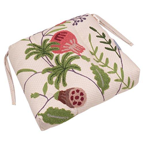 Flor De Granada Nordic Bordado De Cojin, Jardin Lubordado Comedor Cojin De La Silla, Estilo Americano El Pais Espesado Oficina Cubierta De La Silla-a 45x38cm
