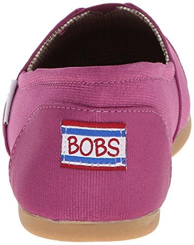 Bobs Van Skechers Womens Gros Grosgran Flat, Raspberry, 7 M Us