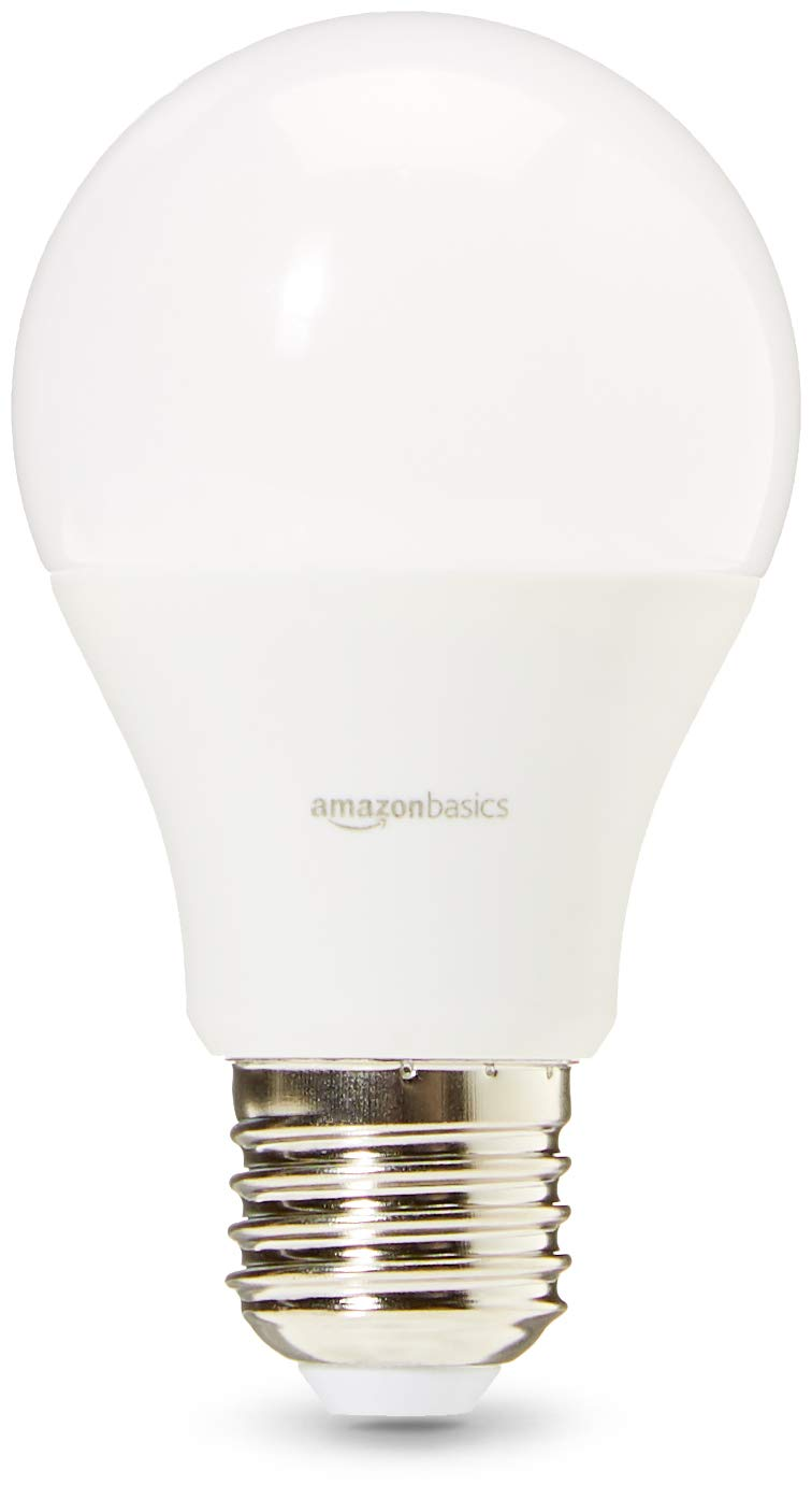 Pack of 6 Basics Professional LED E27 Edison Screw Bulb Cool White 60W equivalent