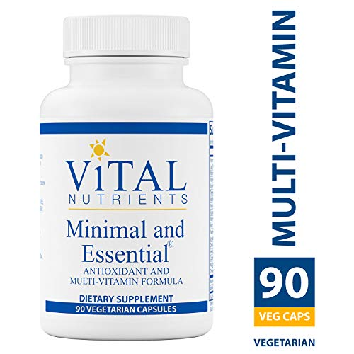 Vital Nutrients - Minimal & Essential - One a Day Multi-Vitamin/Mineral and Antioxidant Formula - 90 Capsules (Nutrients 90 Capsules)