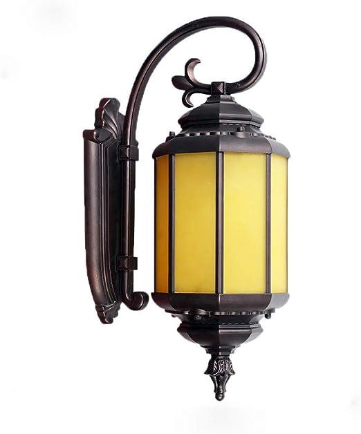 Lámpara de pared antigua del patio lámpara de jardín de luz LED de jardín: Amazon.es: Iluminación