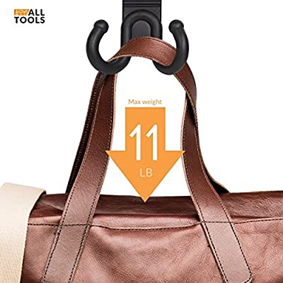 ALLTOOLS Car Hooks Back Seat Headrest Hanger Holder Hang Purse Grocery Bag Handbag Cloth Coat Universal Vehicle Storage Organizer Behind Over The Seat Car Accessories for Women Men: Automotive