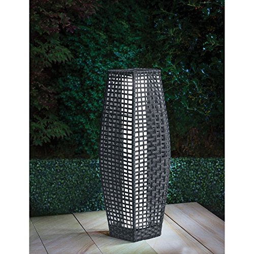 69 cm Spotondealz® Grey Rattan Garden Traditional Floor Solar Lamp Gill hk ltd