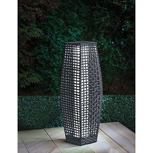 69 cm Spotondealz® Grey Rattan Garden Traditional Floor Solar Lamp Gill hk ltd