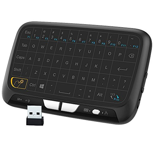 Xbox 360 Wheel Review - EVANPO E3 Wireless Keyboard and Touchpad Mouse Combo, 2.4GHz Mini Keyboard with Full Panel Touchpad Mouse Remote for Android TV Box, HTPC, IPTV, PC, Laptop, PS3, Xbox 360, Smart TV and More