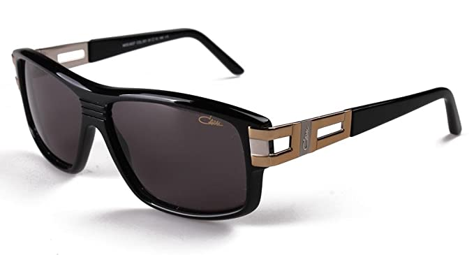 dd9c10bb5cb Cazal Sunglass 8027 Col. 001 Black-Gold-Silver Frame Grey Lens at ...
