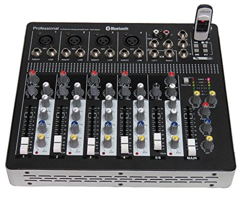 STARAUDIO SMX-6000B Pro PA DJ Stage Club Party Karaoke 6 Channel Pure Mixer Mixing Console W/ USB Bluetooth MP3 Player by STARAUDIO