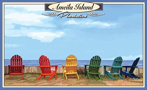 Northwest Art Mall JK-6279 ADC Island Plantation, Florida Adirondack Chairs 11x17 Print by Artist Joanne - Mall Plantation