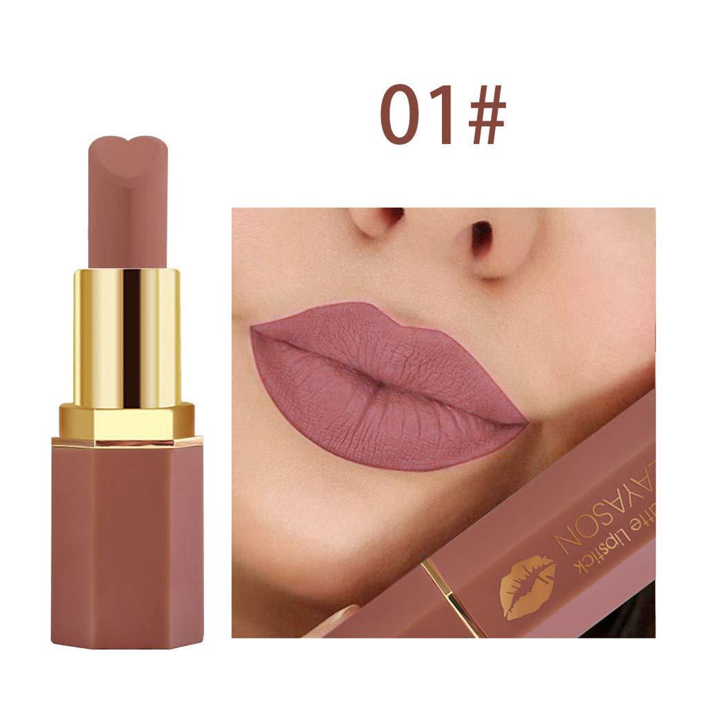 callm New Hot Lipstick, Cosmetics Matte and Pumpkin Color Bean Paste Lip Solid Gloss Lipstick Long Last