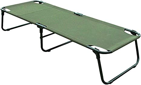 Free Installation Tough Environmental Protection ZDCJH Outdoor Folding Bed Camp Bed Hospital Accompanying Folding Single Bed Lunchtime Portable Ultra Light Solid Canvas Bed 183x63x37cm