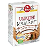 Old London Melba Toast Unsalt Whole Grain, 5 oz