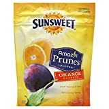 Sunsweet Amaz!n Prunes, Pitted, Orange Essence 6oz (Pack of 3)