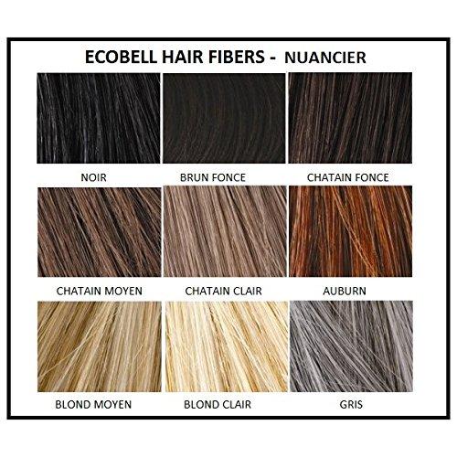 Ecobell maxi formato 50 gramos negro. Polvo de cabello voluminizador calvicie: Amazon.es: Belleza