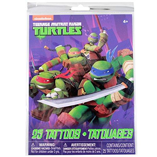 [Teenage Mutant Ninja Turtles Temporary Tattoos 25pc Set] (Nickelodeon Themed Costumes)