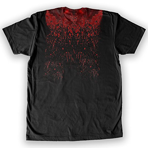 Tom Cruise Halloween Costume (Death By Novelty - Bloody Collar Halloween Men's Costume T-Shirt Black)